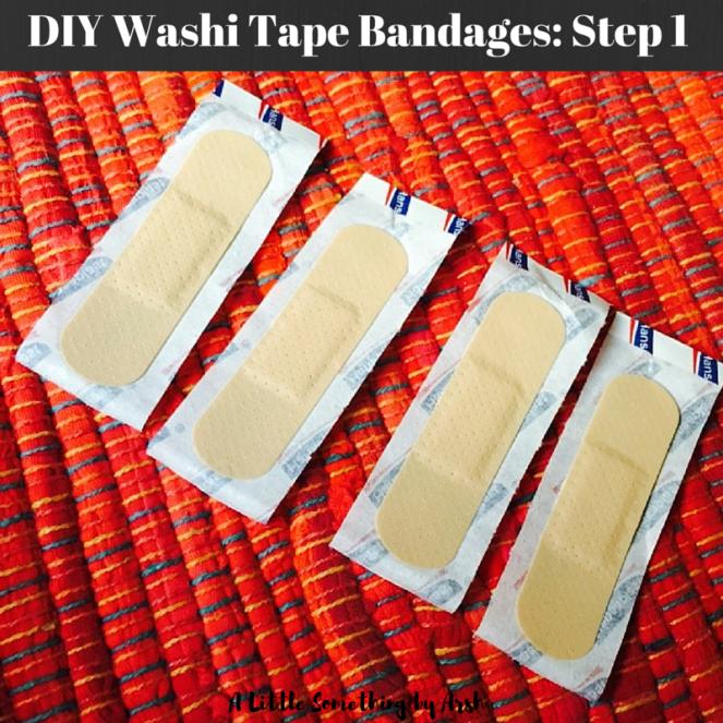 DIY Washi Tape Bandages by Arsh Step 1