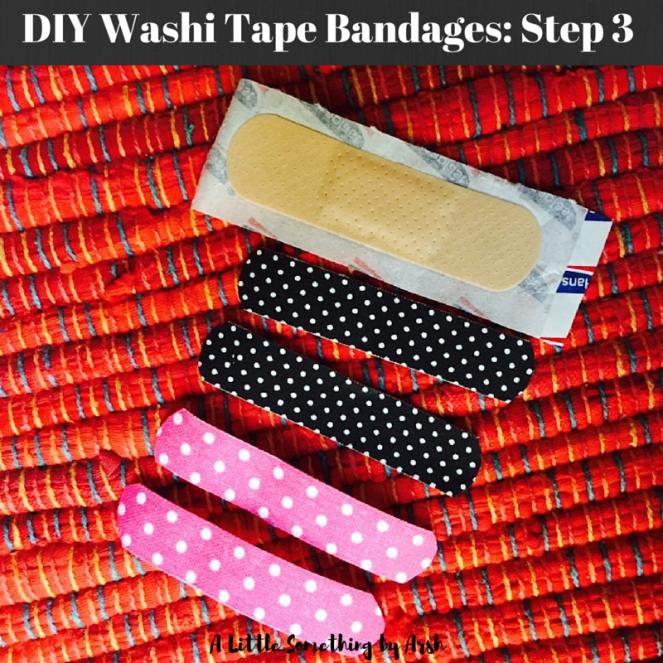 DIY Washi Tape Bandages by Arsh Step 3